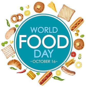 Baner światowego dnia żywności