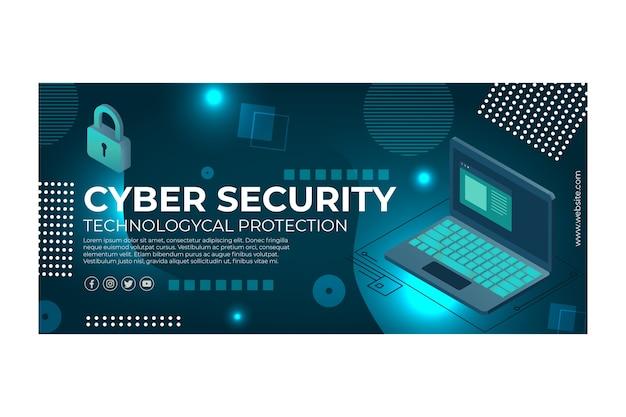 Baner szablonu bezpieczeństwa cybernetycznego