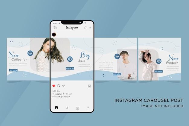 Baner szablonu karuzeli na sprzedaż mody instagram premium
