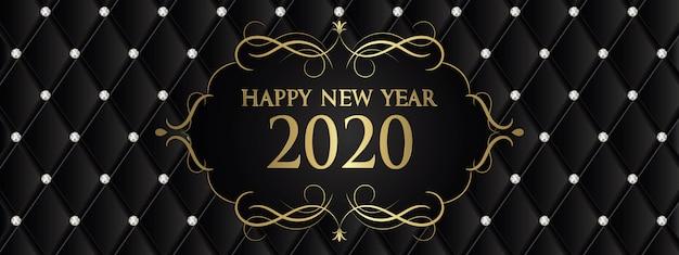 Baner szczęśliwego nowego roku 2020