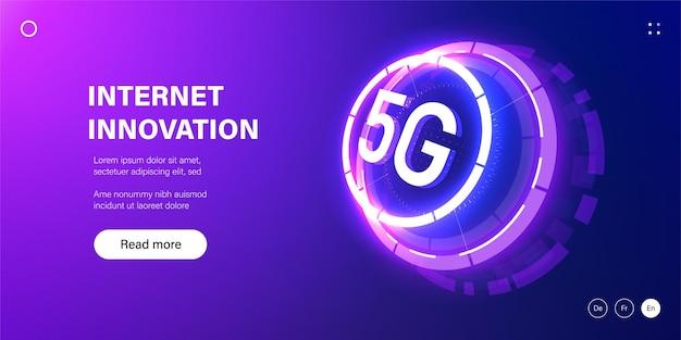 Baner technologii sieciowej 5g