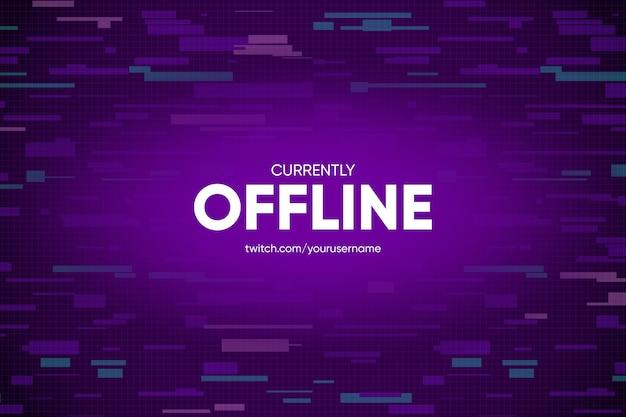 Baner twitchowy offline w stylu gammer