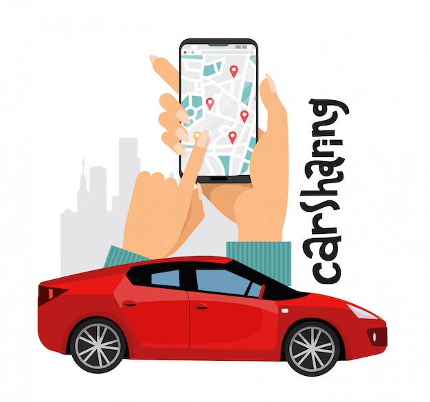 Baner usługi udostępniania samochodu