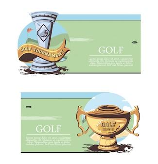 Baner ustaw trofeum turniej golfowy