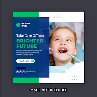 Baner w mediach społecznościowych opieki stomatologicznej