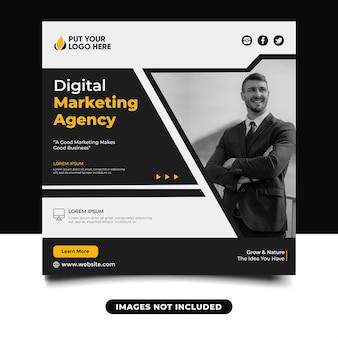 Baner w mediach społecznościowych z agencją marketingu cyfrowego