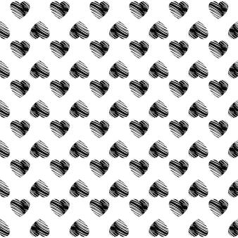 Baner walentynkowy z małymi czarnymi sercami