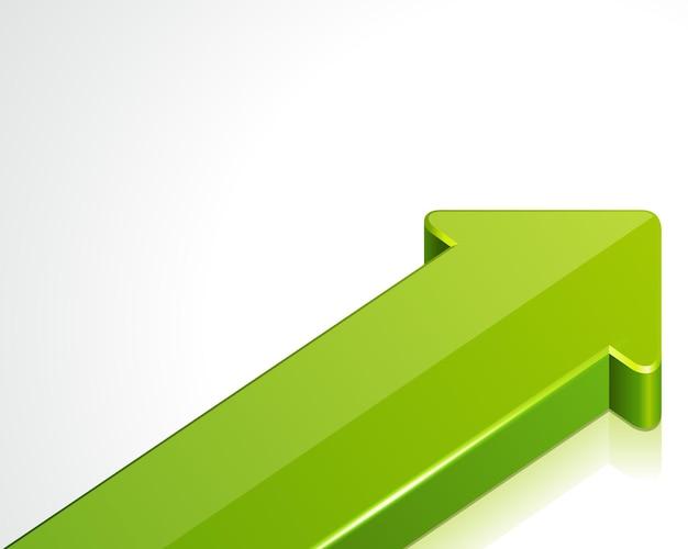 Baner wskaźników strzałek nawigacyjnych. zielona strzałka