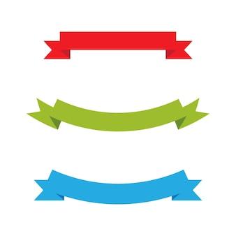 Baner wstążki szablon projektu ilustracji wektorowych