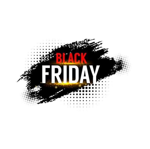 Baner wyprzedaży w czarny piątek, oferta promocyjna sklepu weekendowego