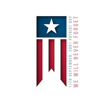 Baner z 9/11 usa patriot day.