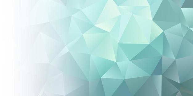Baner z abstrakcyjnym wzorem low poly