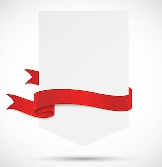 Baner z czerwoną wstążką