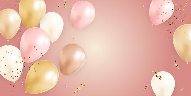 Baner z konfetti realistyczne balony