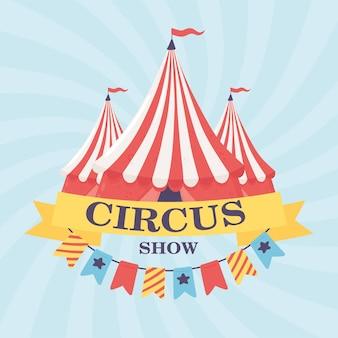 Baner z przedstawieniem cyrkowym