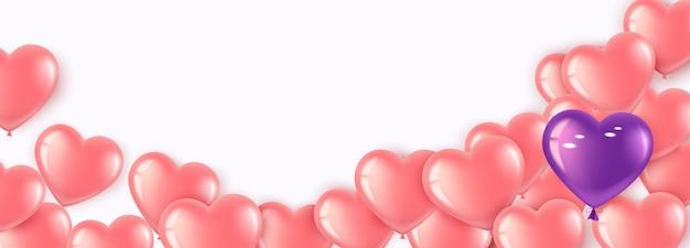 Baner z różowymi balonami