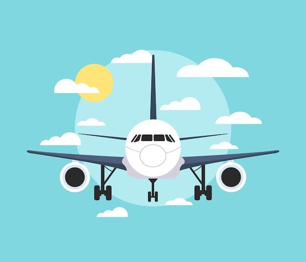 Baner z samolotem.