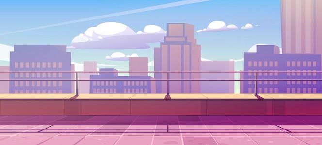 Baner z tarasem na dachu z widokiem na miasto