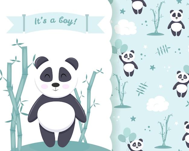 Baner z zaproszeniem na baby shower dla chłopca