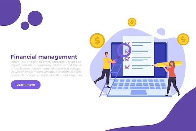 Baner Zarządzania Finansami Premium Wektorów