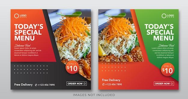 Baner żywnościowy dla szablonu postu w mediach społecznościowych