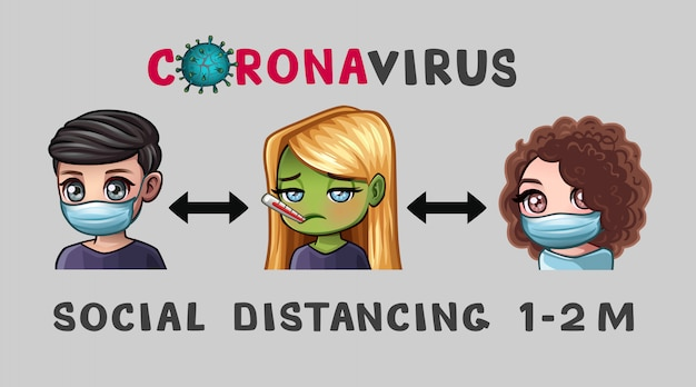 Banerowy wirus dystansowy i tekstowy
