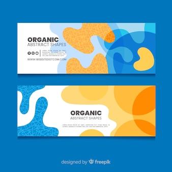Banery abstrakcyjne kształty organiczne