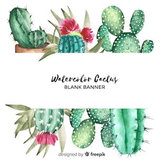 Banery akwarela kaktus z pusty transparent