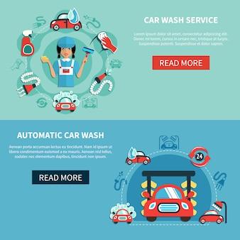 Banery auto wash samochodów