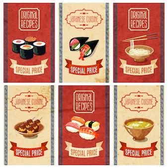 Banery azjatyckich żywności