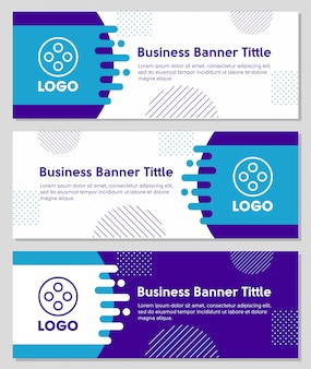 Banery biznesowe kształty geometryczne