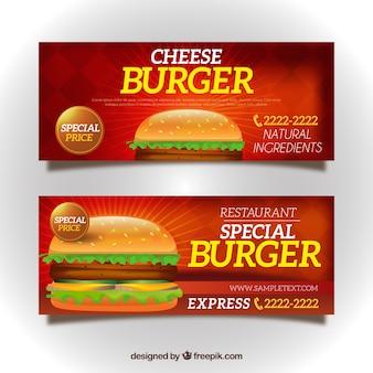 Banery burger bar oferują