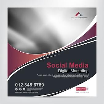 Banery dla szablonu postu w mediach społecznościowych