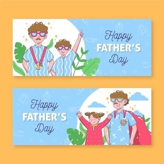 Banery dzień ojca