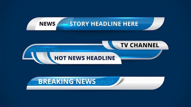 Banery i dolne trzecie dla kanału informacyjnego