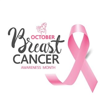 Banery i wstążki świadomości raka piersi, świadomość raka piersi dla nowego szablonu mediów społecznościowych