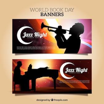 Banery jazzowe z sylwetką