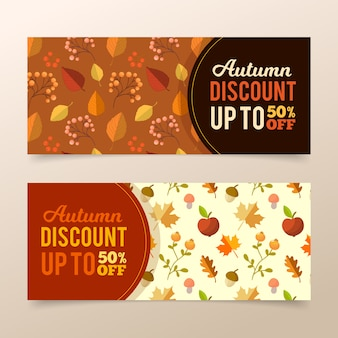 Banery jesień sprzedaży