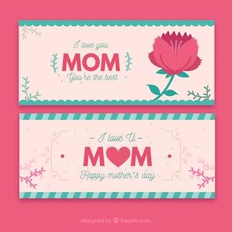 Banery, Kocham Cię Mamo, Jesteś Najlepszy Darmowych Wektorów