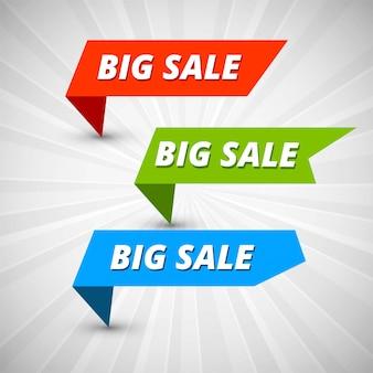 Banery kolorowy duży szablon sprzedaż