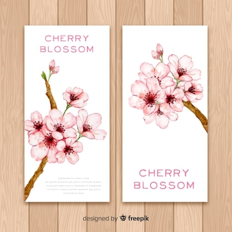 Banery kwiat wiśni