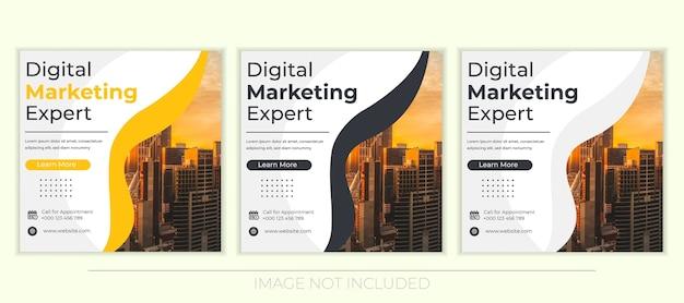 Banery mediów społecznościowych do marketingu cyfrowego