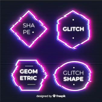 Banery o geometrycznych kształtach glitch