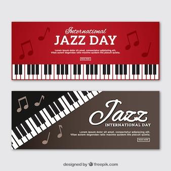 Banery piano jazz