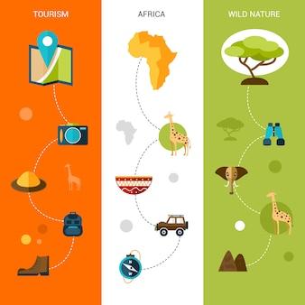 Banery pionowe safari