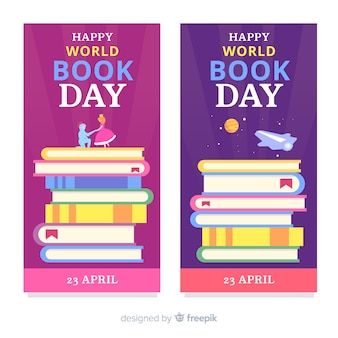 Banery płaskie dzień książki