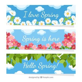 Banery płaskie wiosna