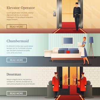 Banery poziome personelu hotelowego
