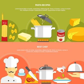Banery poziome płaskie do żywności