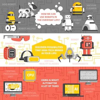 Banery poziome sztucznej inteligencji